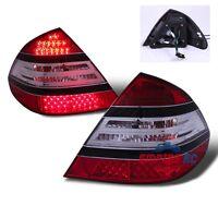 03-06 Benz W211 E-Class E320/E350/E500/E55 AMG LED Tail Lights Lamps Red Clear