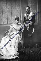 mm633 - wedding of King George V & Queen Mary in 1893 - Royalty photo 6x4""