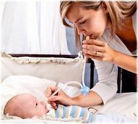 Schleim- und Nasensekretsauger für Babys und Kleinkinder, Hygiene Set NEU