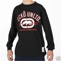 Ecko Unltd Manches Longues Noir Blanc Rouge T Shirt XL Garçons XLB 13 ans 14