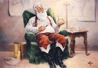10 Holiday Christmas Greeting Cards, Santa, Leanin Tree C70700
