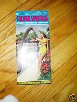 Vintage 1950s Silver Springs Florida Brochure FL