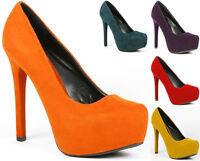 Velvet Almond Toe High Stiletto Heel Platform Pump Qupid Marquise-06