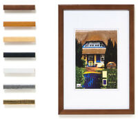 3x Holz - Bilderrahmen HR43 10x15 13x18 15x20 18x24 20x30 30x40 40x50 cm  Farbw.
