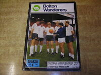 1980/81 DIVISION TWO - BOLTON WANDERERS v SHEFFIELD WEDNESDAY