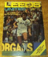 1982/83 DIVISION TWO - LEEDS UNITED v BOLTON WANDERERS