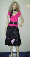 LADIES 1950S ROCK N ROLL GREASE POODLE BOPPER FANCY DRESS COSTUME 10-12 16-18***