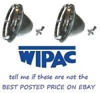 "WIPAC 7"" PAIR MINI HEADLAMP BOWL & RETAINER RING S5400"