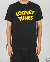 Starter Looney Tunes Wordmark T-Shirt Top Black Crew Neck S M L XL New BNWT