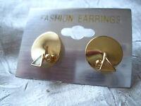 Raffinierte Ohrstecker Ohrringe gold farben  rund NEU