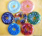 12pcs Beautiful Bead round Millefiori Flower Lampwork Glass Beads 30*30mm