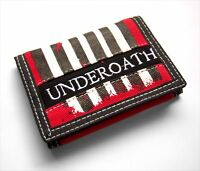 UNDEROATH GRENADES STRIPED CANVAS EMBROIDERED TRIFOLD WALLET - NEW OFFICIAL