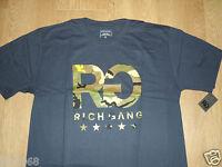 Rich Gang Navy Camouflage Print World Start T-Shirt Top Rap Hip Hop L New