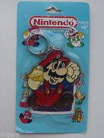 """Super Mario Nintendo 1988 RARE OLD HUGE 3"""" Promo KEYRING Suncatcher BLISTER PACK"""