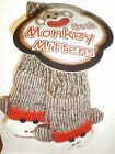 Sock Monkey Mittens New Red Fleece Lining Youth / Adult Quality Warm Gloves Fun