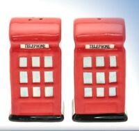 Briitsh Red Telephone Box Novelty Cruet Salt & Pepper Set NEW  16809