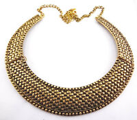 New Arrival Punk European Style Vintage Gold Metal Choker Collar Necklace