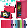 LUXURY FOLDING LEATHER CASE STAND COVER FOR AMAZON KINDLE FIRE HDX 7 INCH (2012)