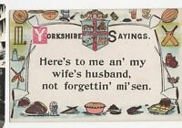 Yorkshire Sayings Vintage Postcard 0697