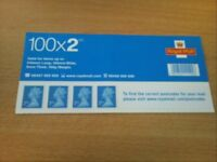 B/New 1 x 100 x 2nd Class Small Stamp Booklet +FREE P&P