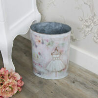 Small mannequin detail waste paper bin pail shabby vintage chic pretty girly
