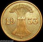 Germany - German Third Reich - German 1933A Reichspfennig Coin