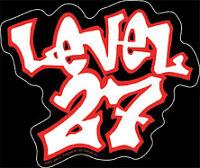 New, LEVEL 27 - Red White Logo VINYL STICKER Decal