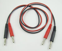 "2set High-quality 2.6"" 0.8M Dual Banana Male, Male to Male Plug Test Lead Cable"