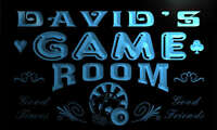 PL1873-b David's Game Room Man Cave Beer Bar Neon Light Sign