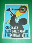 Cartolina Commemorativa Militaria - 4 Novembre Giornata delle Forze Armate