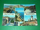 Cartolina Saluti da Ancona - Vedute diverse 1962