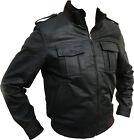 Veste en cuir, Veste d'aviateur, veste de pilote, blouson moto .gr. 48