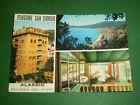 Cartolina Alassio - Pensione San Giorgio e scorcio panoramico 1972