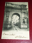 Cartolina Savigliano Arco Santarosa e via S Andrea 1900