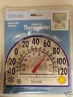 """Taylor WINDOW CLING OUTDOOR THERMOMETER  7"""" NEW!!"""