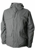 QUIKSILVER MEN'S DOUBLE DAFFY SNOW JACKET  Medium PEWTER NWT
