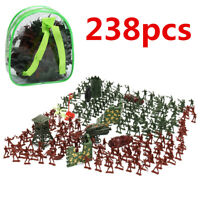 238PCS Military Plastic Soldiers Army Men Figures Tanks Accessories Play Set Toy