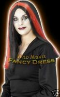 HALLOWEEN FANCY DRESS WIG # BEWITCHED WIG RED STREAKS