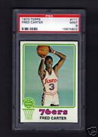 1973 Topps #111 Fred Carter PSA MINT 9