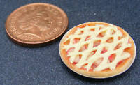 1:12 Scale Apple Lattice Pie Doll House Miniature Kitchen Dessert Accessory D11