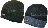 4 THINSULATE LINED THERMAL RIBBED BEANIE SKI HIKE HATS