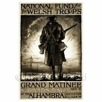 Welsh Troops Fund - Miniature WWI Poster