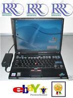 "IBM ThinkPad T43 Laptop 2GHz 14.1"" XGA 1Gb 40Gb DVD-ROM WiFi 6c AC XP Offfice"