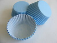 48 x high quality BABY BLUE Muffin / Cup Cake cases