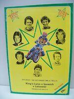 Speedway Programme, King's Lynn v Ipswich v Leicester