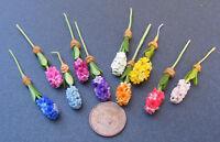 1:12 Scale Single Dolls House Miniature Hyacinth Flower Garden Accessory
