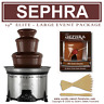 "SEPHRA ELITE 19"" CHOCOLATE FOUNTAIN - LARGE WEDDING PACK INC 20 LBS CHOC & FORKS"