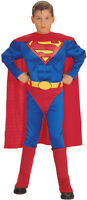 NWT Halloween Boys Deluxe Superman Muscle Chest Costume L 10-12