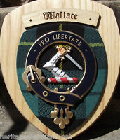 Scottish Gifts Wallace Family Clan Crest Wall Plaque