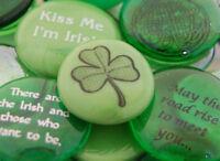 Colored Glass Irish Imprinted Stones